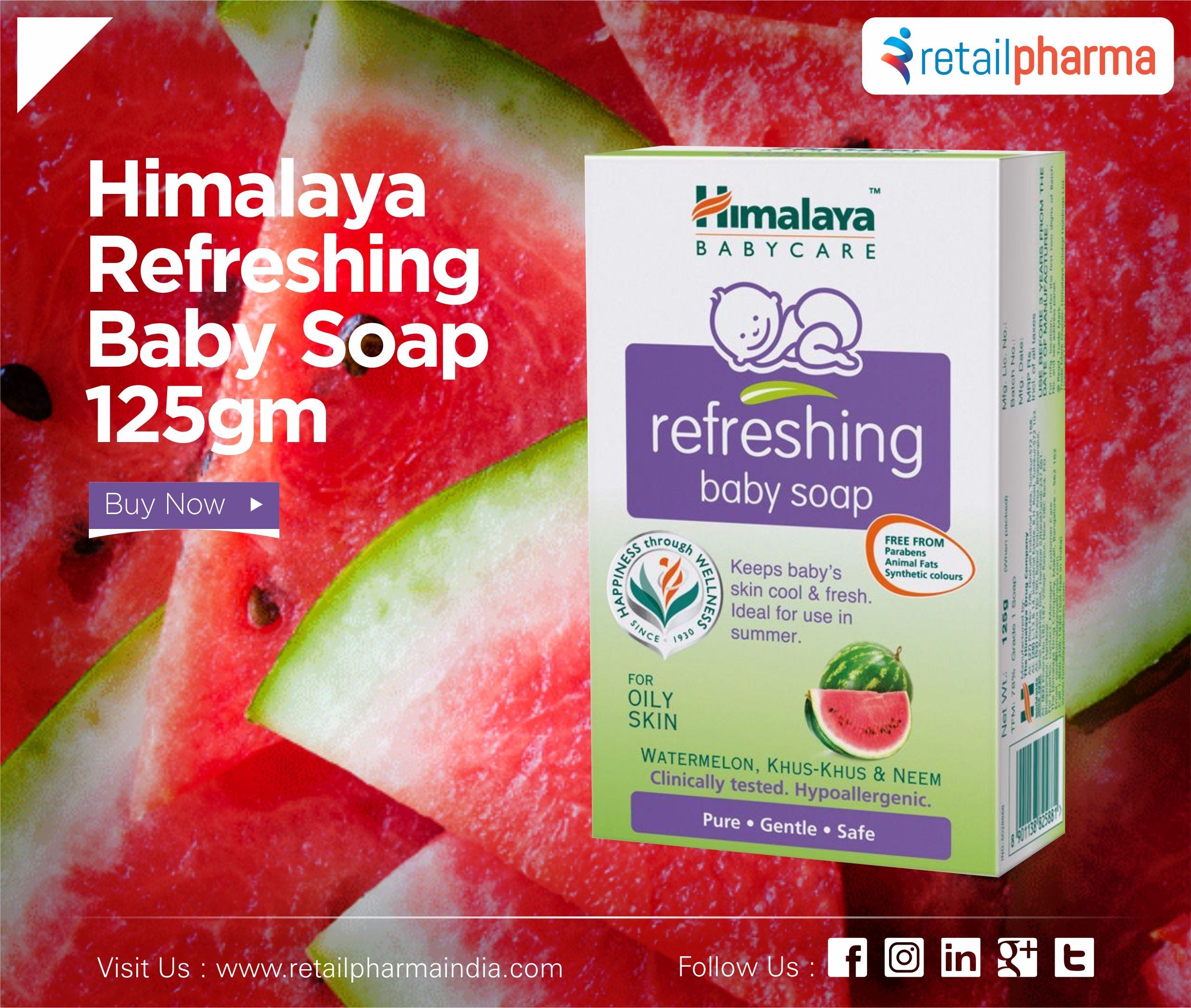 Himalaya Refreshing Baby Soap 125gm Online Baby Care Baby Soap