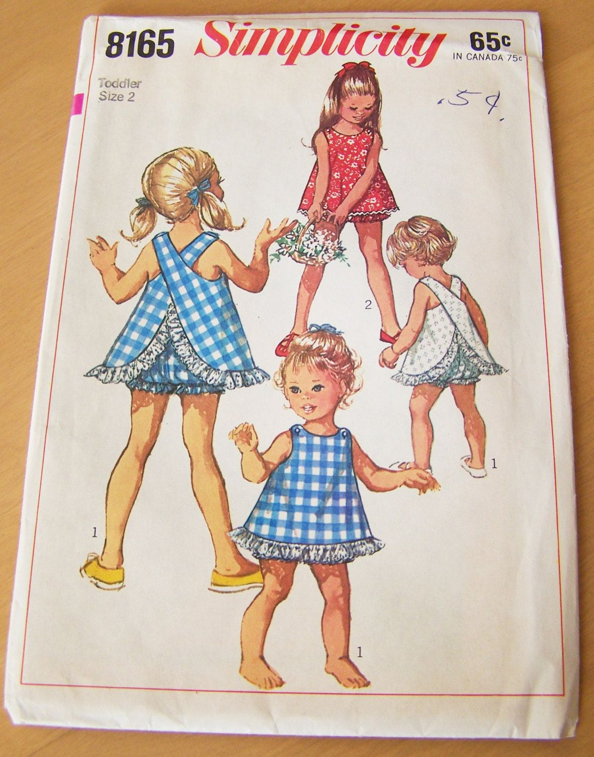 Vintage 1969 uncut sewing pattern simplicity 8165 toddler size 2 vintage 1969 uncut sewing pattern simplicity 8165 toddler size 2 toddlers and childs jeuxipadfo Choice Image