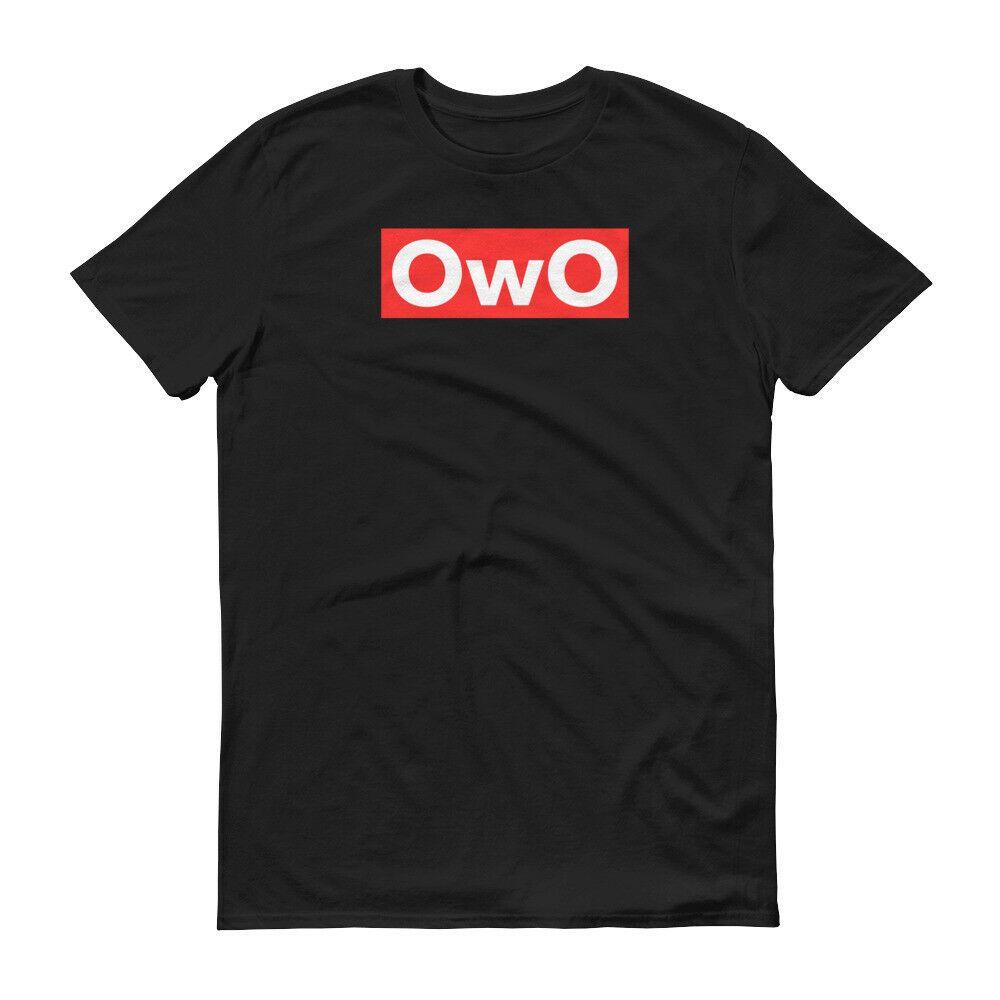 OwO Red Box Logo T Shirt Classic Hip Hop Rap Music Savage Style Meme Adult Tee