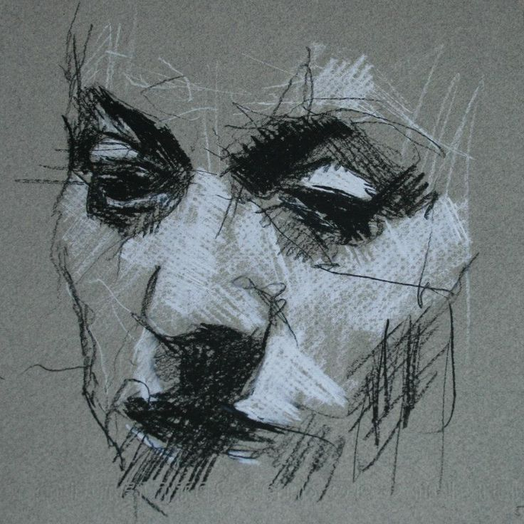 Portrait in Charcoal and Chalk