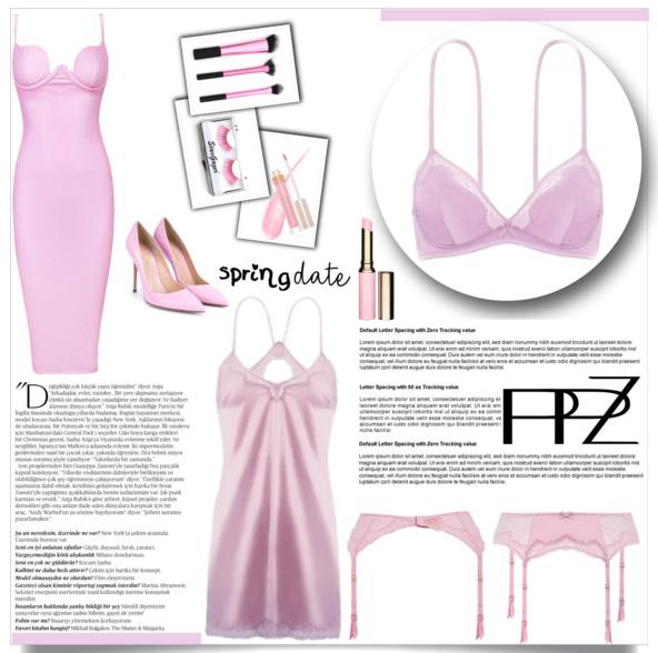 Spring dating look. Wireless Soft Bra(US$23.26)+Women's Sexy Lace Garter(US$17.82)  #PPZ #Bra #Lingerie #WirelessBra #AdjustableBra #SatinLingerie #Garter