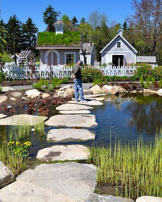 Stepping stones in the children 39 s garden at the coastal - Botanical gardens boothbay harbor maine ...