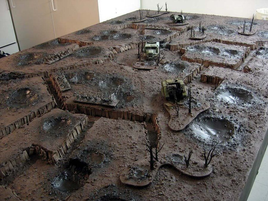 Trench Warfare Table Gaming Terrain Ideas Diorama Maquette Jeux