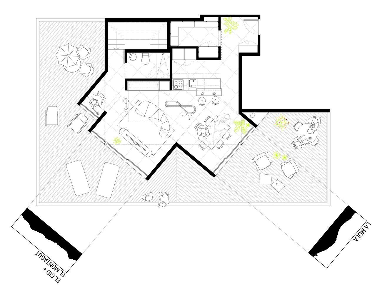 Gallery Of 2l Attic La Erreria 16 Architecture Office Plan Design Floor Plans