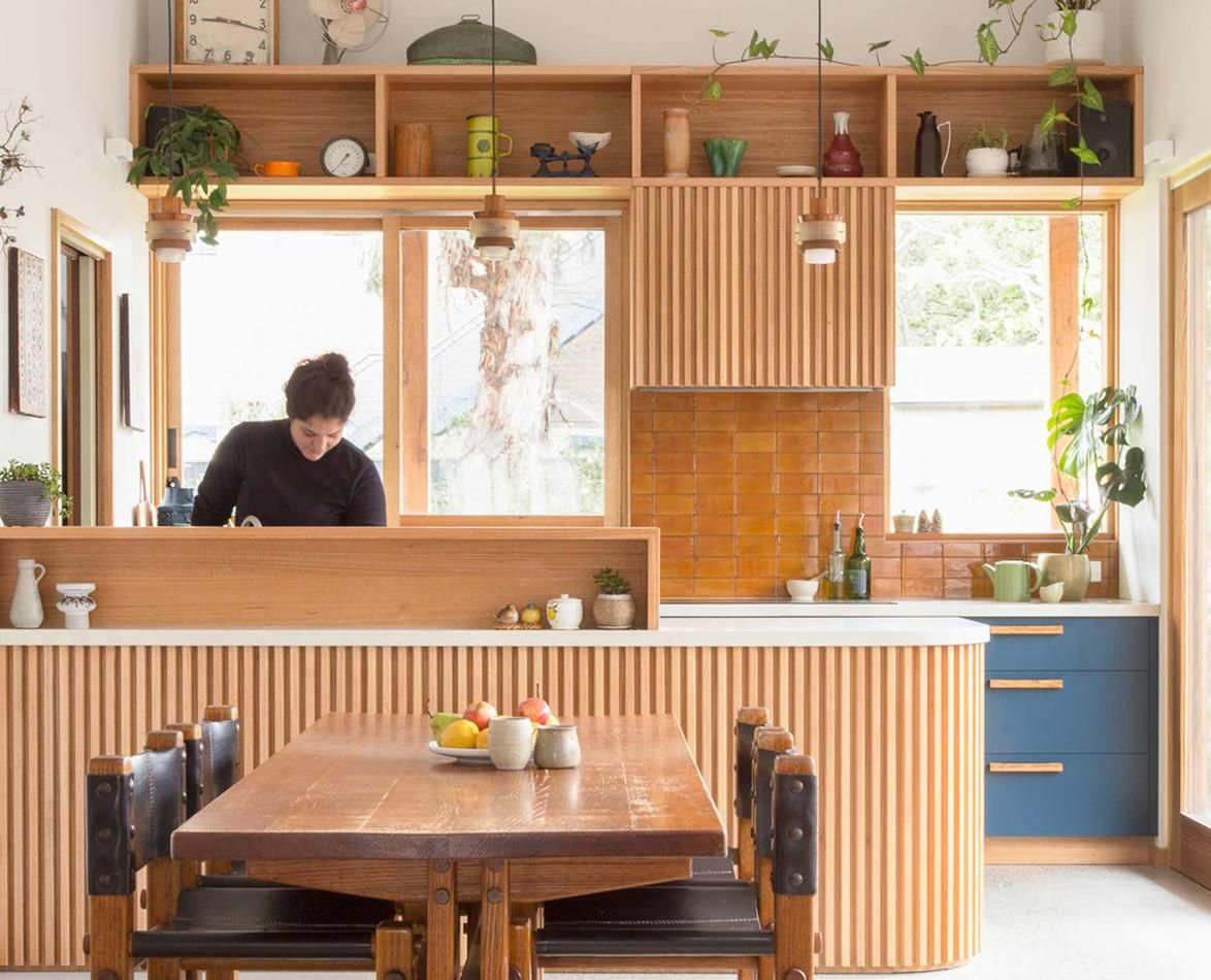 Remarkable A Melbourne Bungalows Eco Friendly Transformation Kitchen Home Interior And Landscaping Eliaenasavecom