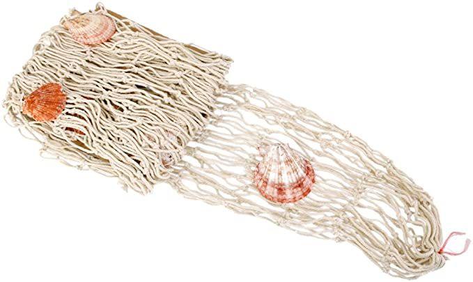 1x Deko Fischernetz Natur Maritime Dekor Baumwolle mit Shell Beige: Amazon.de: Baumarkt