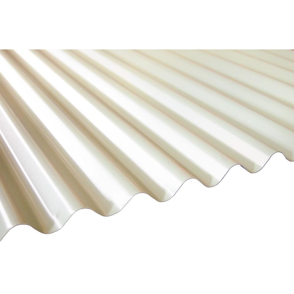 20 Ft Milk White Deep Corrugated Steel Roof Panel Rf Dc26 Mkw 240 The Home Depot Corrugated Steel Roofing Steel Roof Panels Roof Panels