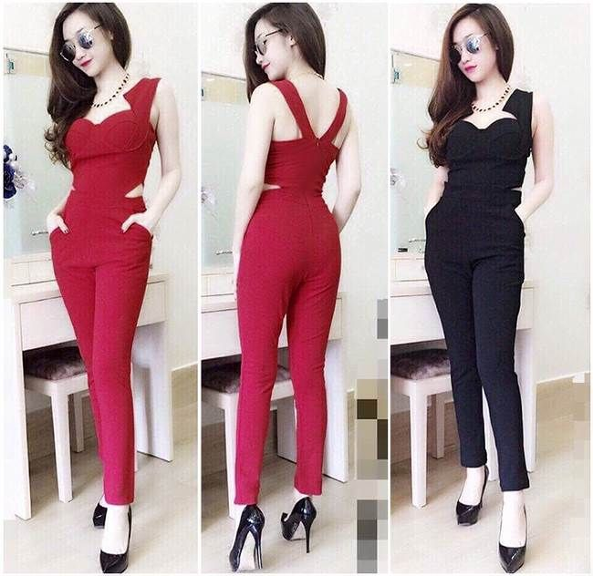 jumpsuit dai du tiec cuc hot