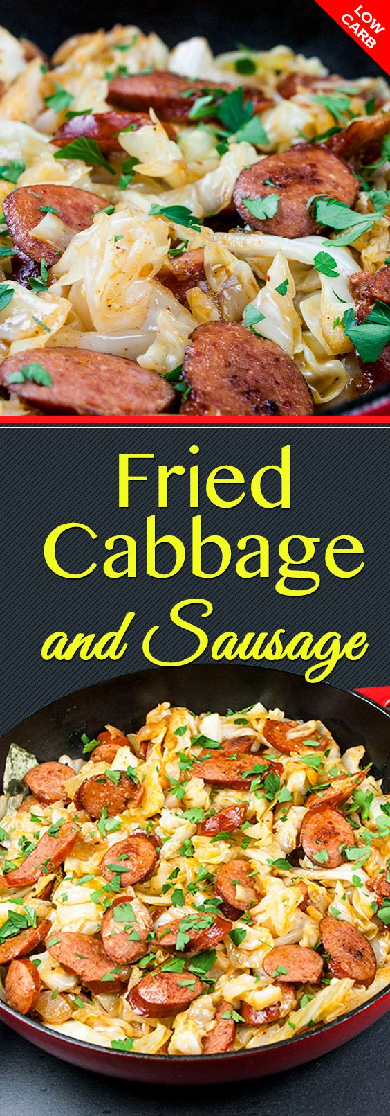 Fried Cabbage and Sausage -   23 sausage recipes cabbage ideas