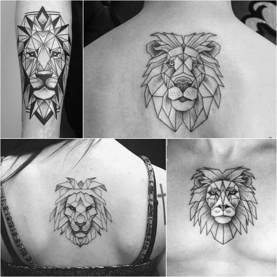 Lion Tattoo Meaning Lion Tattoo Ideas For Men And Women With Photos Geometric Lion Tattoo Simple Lion Tattoo Mens Lion Tattoo