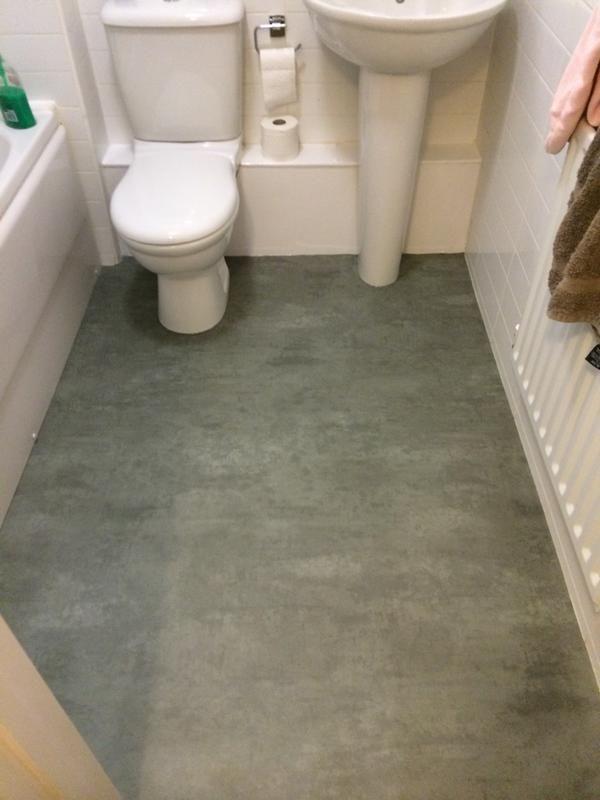 SM Flooring Secura Polished Concrete Sheet Vinyl Flooring House - Concrete sheets for tile