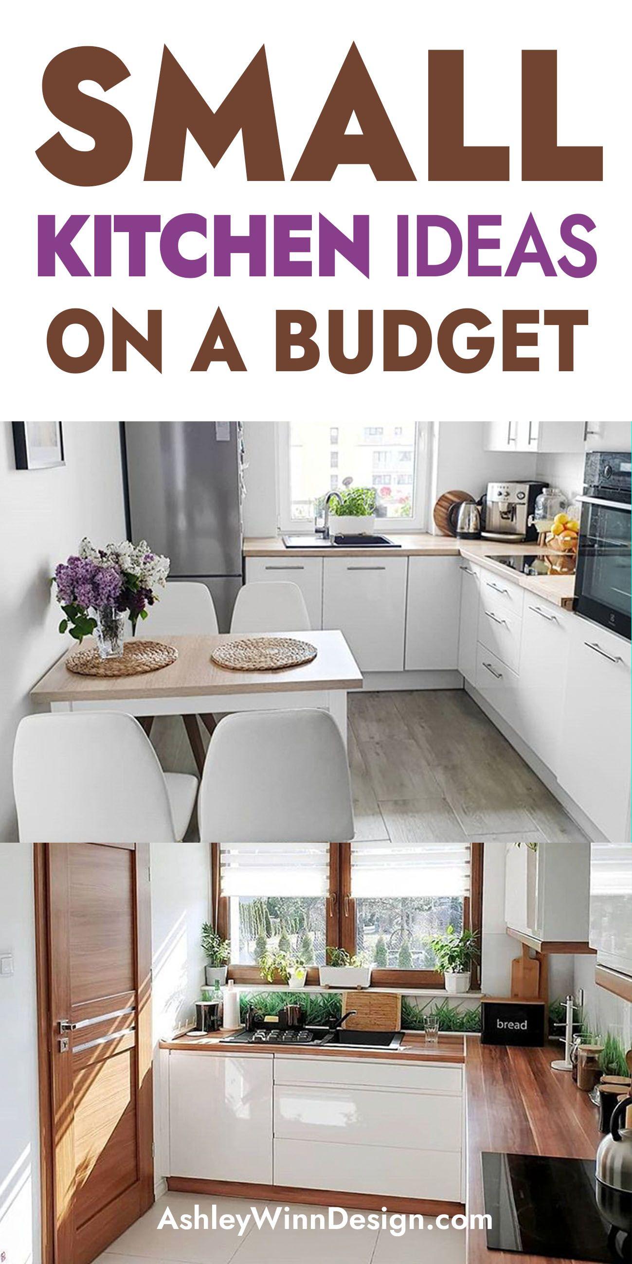 33 Attractive Small Kitchen Design Ideas In 2021 Budget Kitchen Solution Small Kitchen Kitchen Design Small Small Kitchen Ideas On A Budget