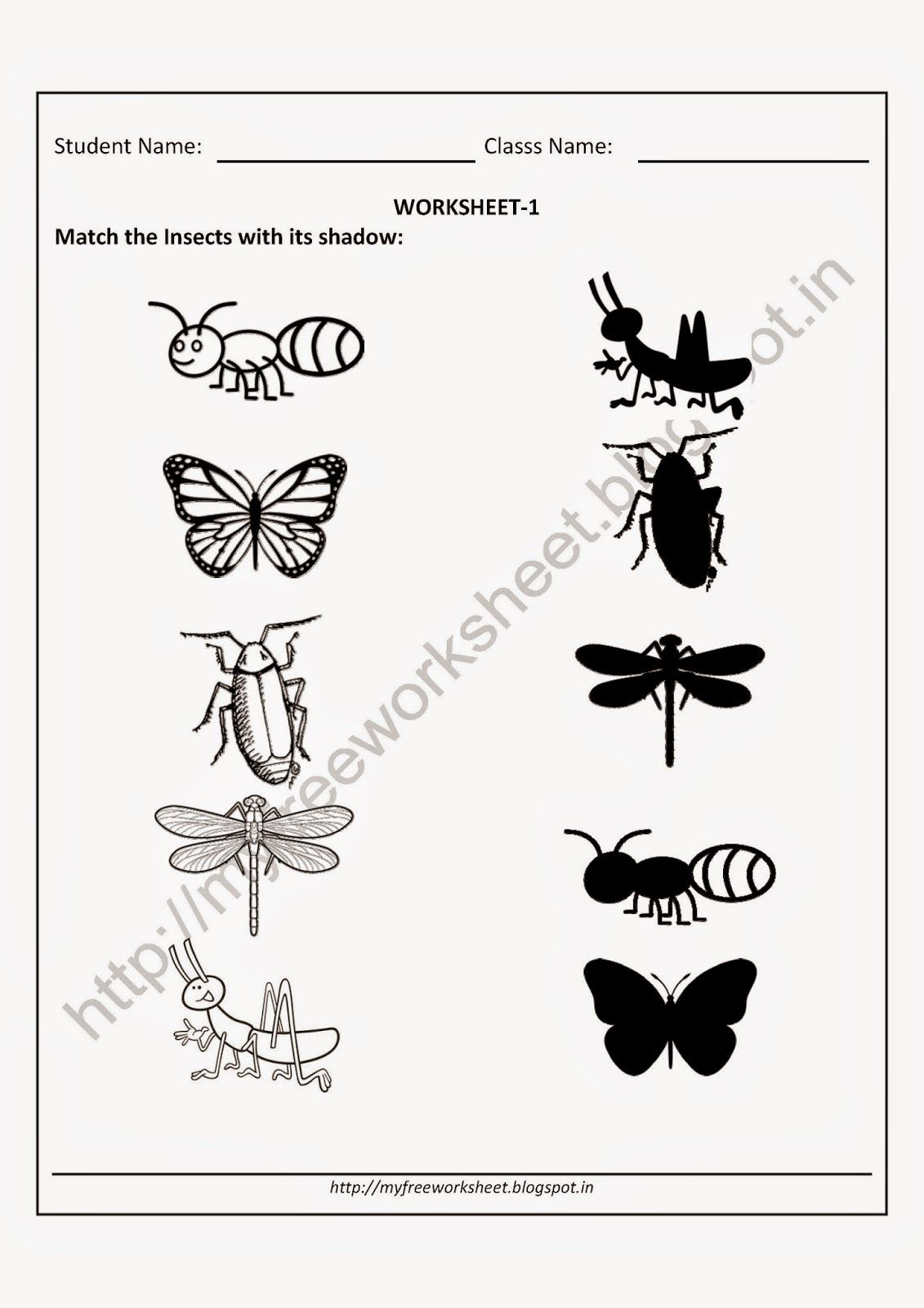 worksheet Worksheets On Insects For Kindergarten kindergarten worksheets free practice sheets download for free