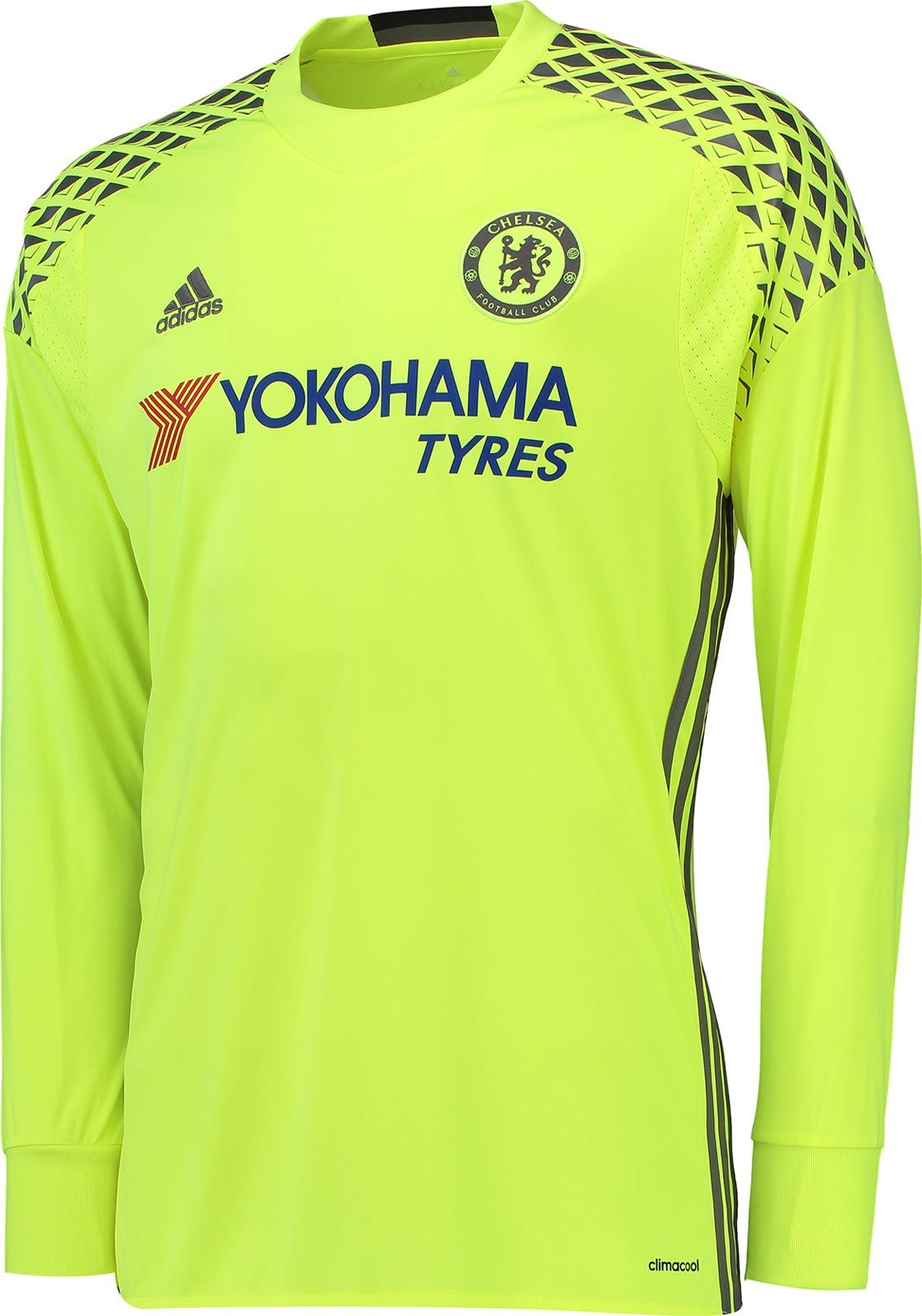 The new Chelsea goalkeeper kit introduces a garish design in yellow and  grey 55b056480