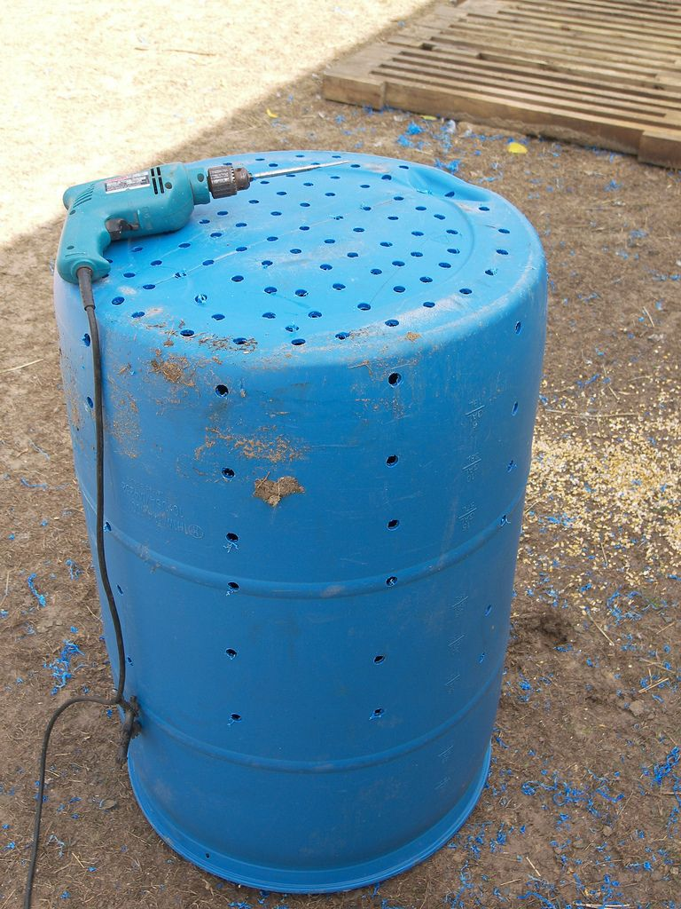 Homemade Dry Well Barrels 50th And Yards
