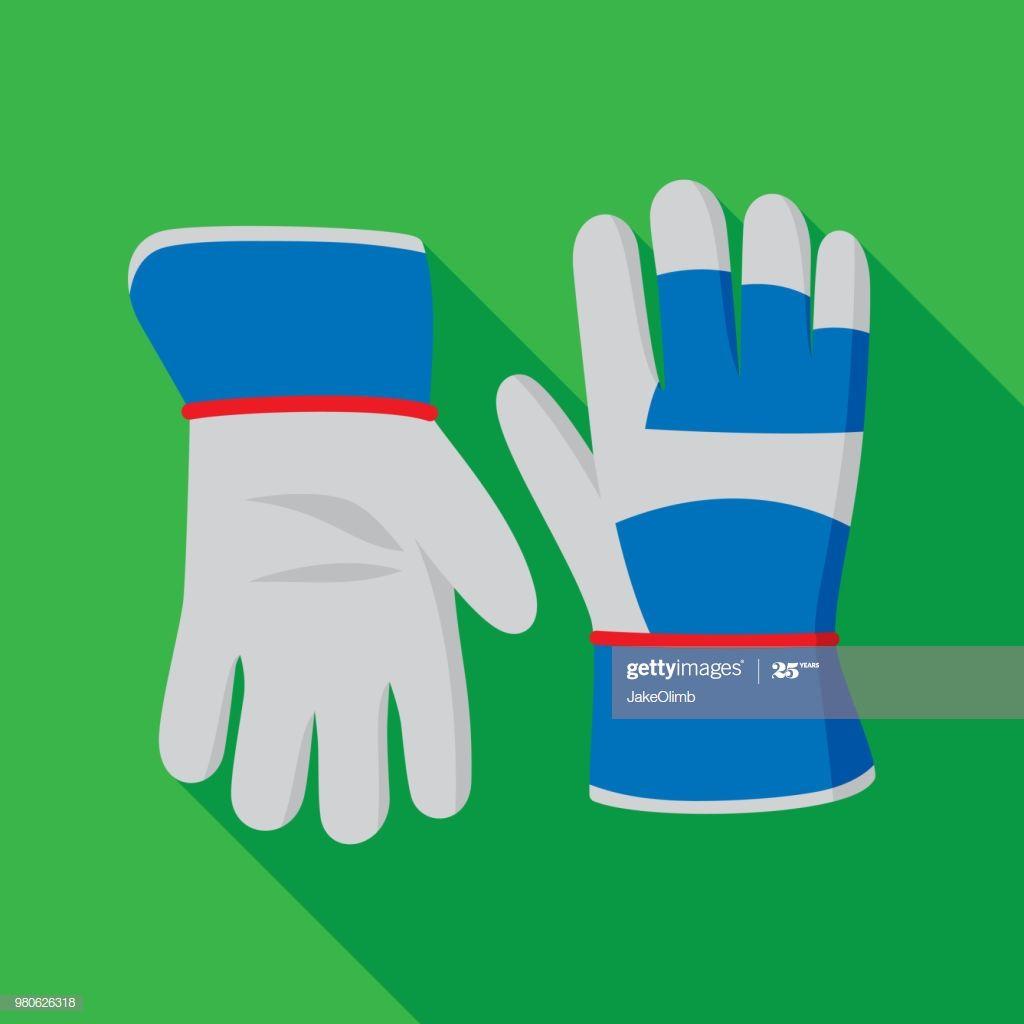 Gardening Gloves Icon Flat Illustration #Ad, , #spon, #Gloves, #Gardening, #Icon, #Illustration