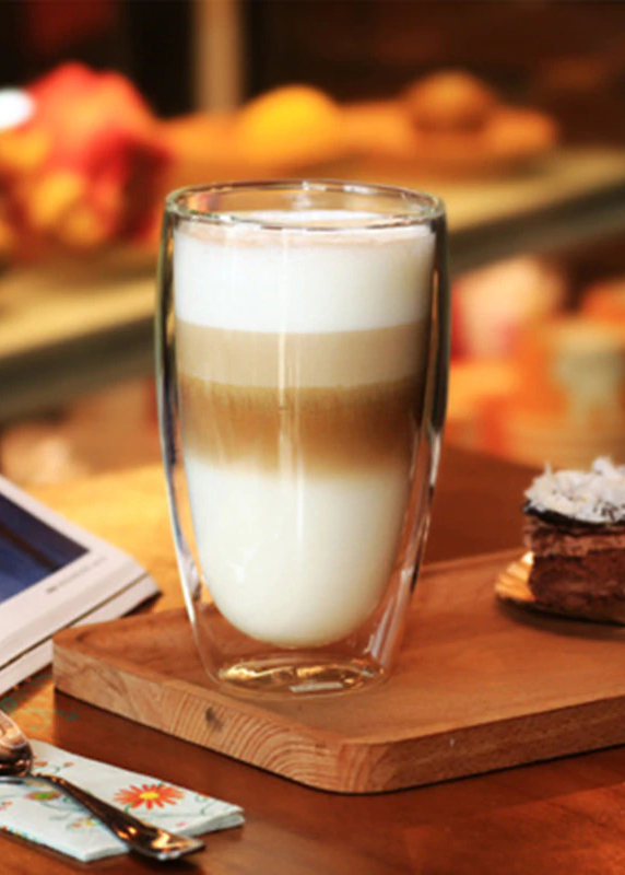 Coffee Has Layers Too Enjoy The Subtle Layering In Your Latte With This Lovely Coffee Glass Perfect For Hot And Double Wall Glass Glass Cup Glass Coffee Mugs