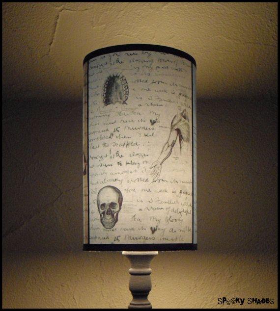 Jacks anatomy blue lamp shade lampshade lighting skull lamp jacks anatomy blue lamp shade lampshade lighting skull lampvictorian gothic halloween goth decorhorror decor medicaljack the ripper aloadofball Images