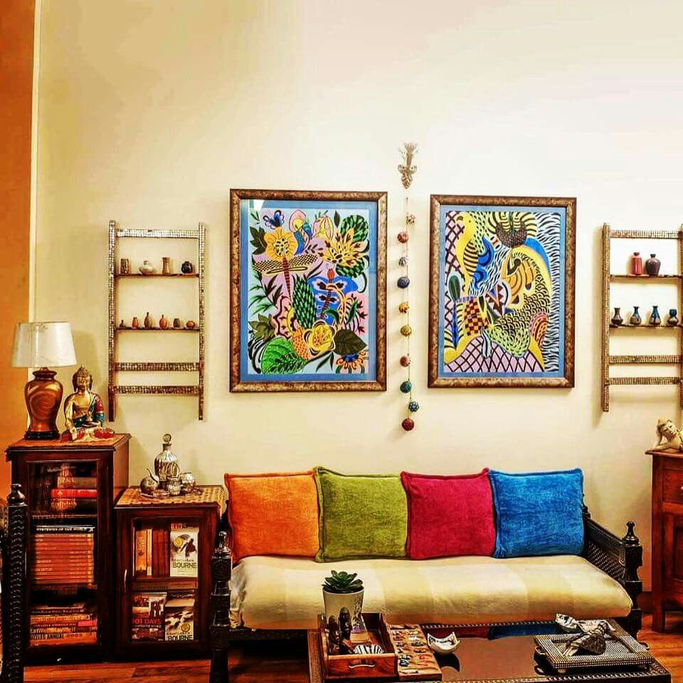 20 amazing living room designs indian style interior for Ethnic home decor