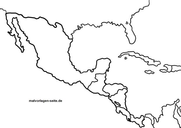 Landkarte Mittelamerika Zum Ausmalen Malvorlagen Ausmalbilder