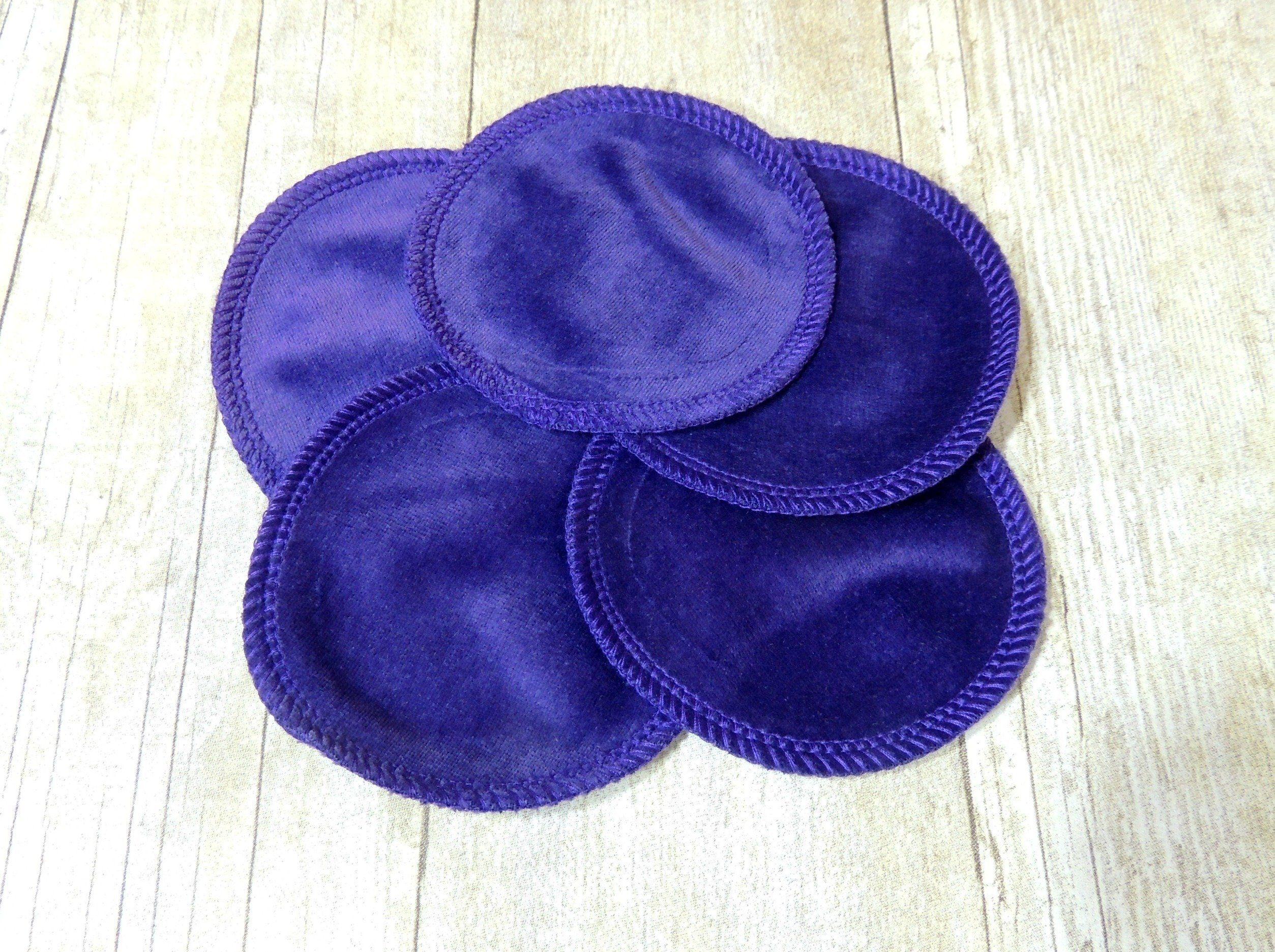 Set of grape cotton velour makeup remover pads handmade batman