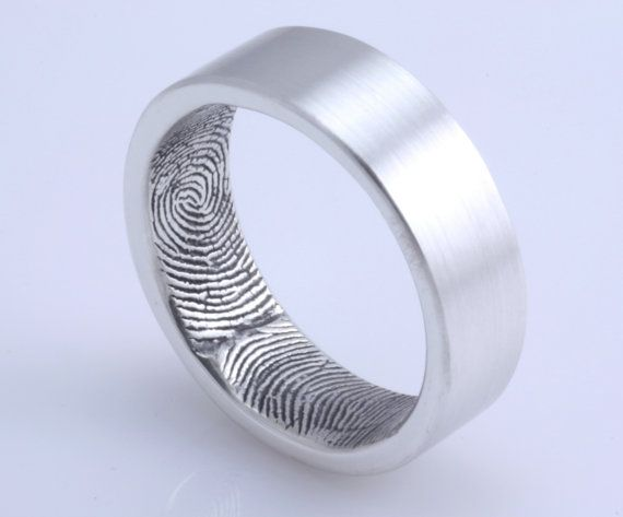 custom fingerprint wedding band how sweet for a husband to have his