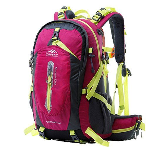 3379ce46a7 Topsky Outdoor Sports Waterproof Camping Hiking Internal Frame Backpack 40L  50L Unisex Lightweight Travel Daypacks with Rain Cover Rose 50L    Be sure  to ...