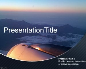 airplane powerpoint template is an attractive background with a nice