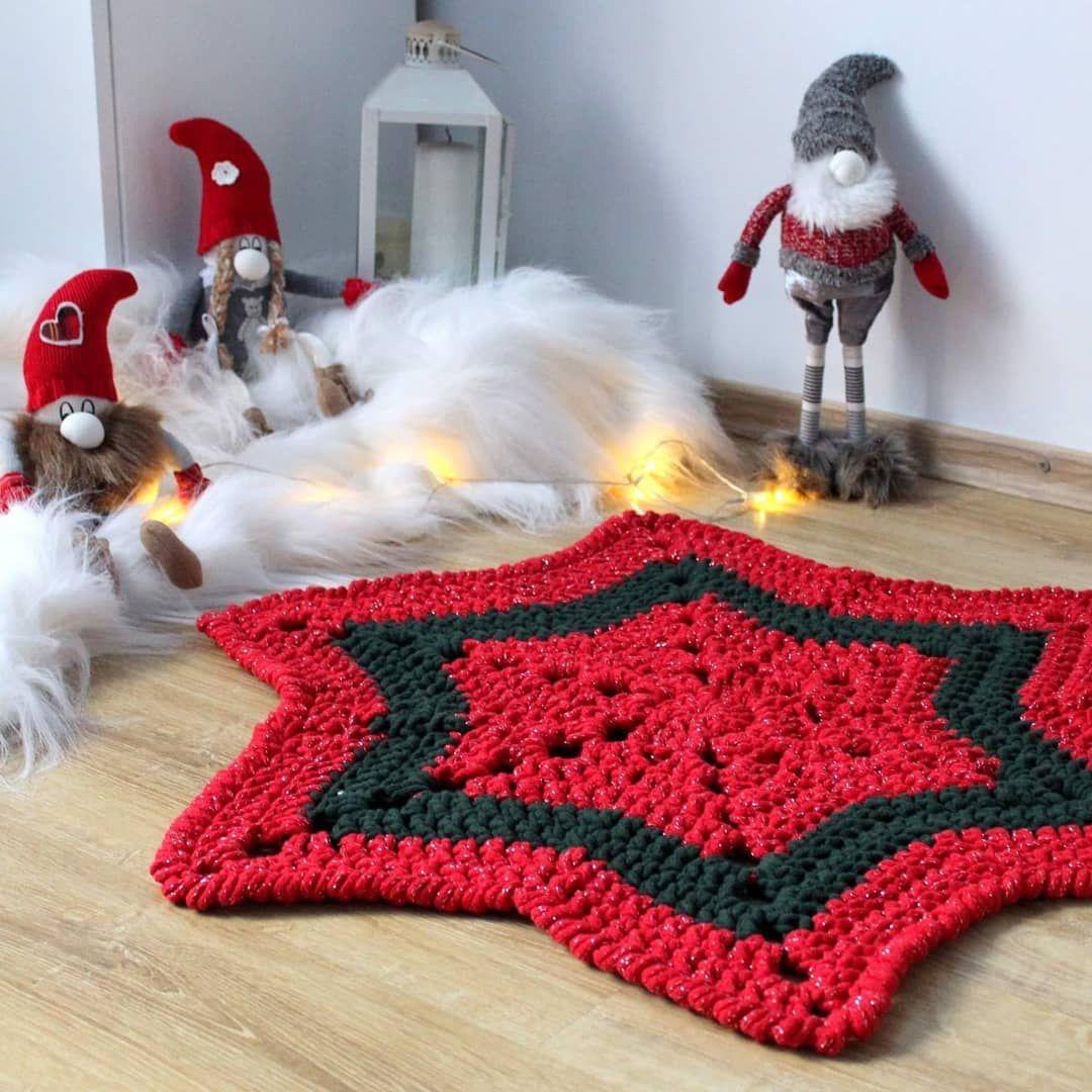 Polubienia 49 Komentarze 0 Dekoracje Makramowe Milejdicreates Na Instagramie Mam Dla Was Jeszcze Dywanik Pod Choinke Crochet Blanket Shag Rug Blanket