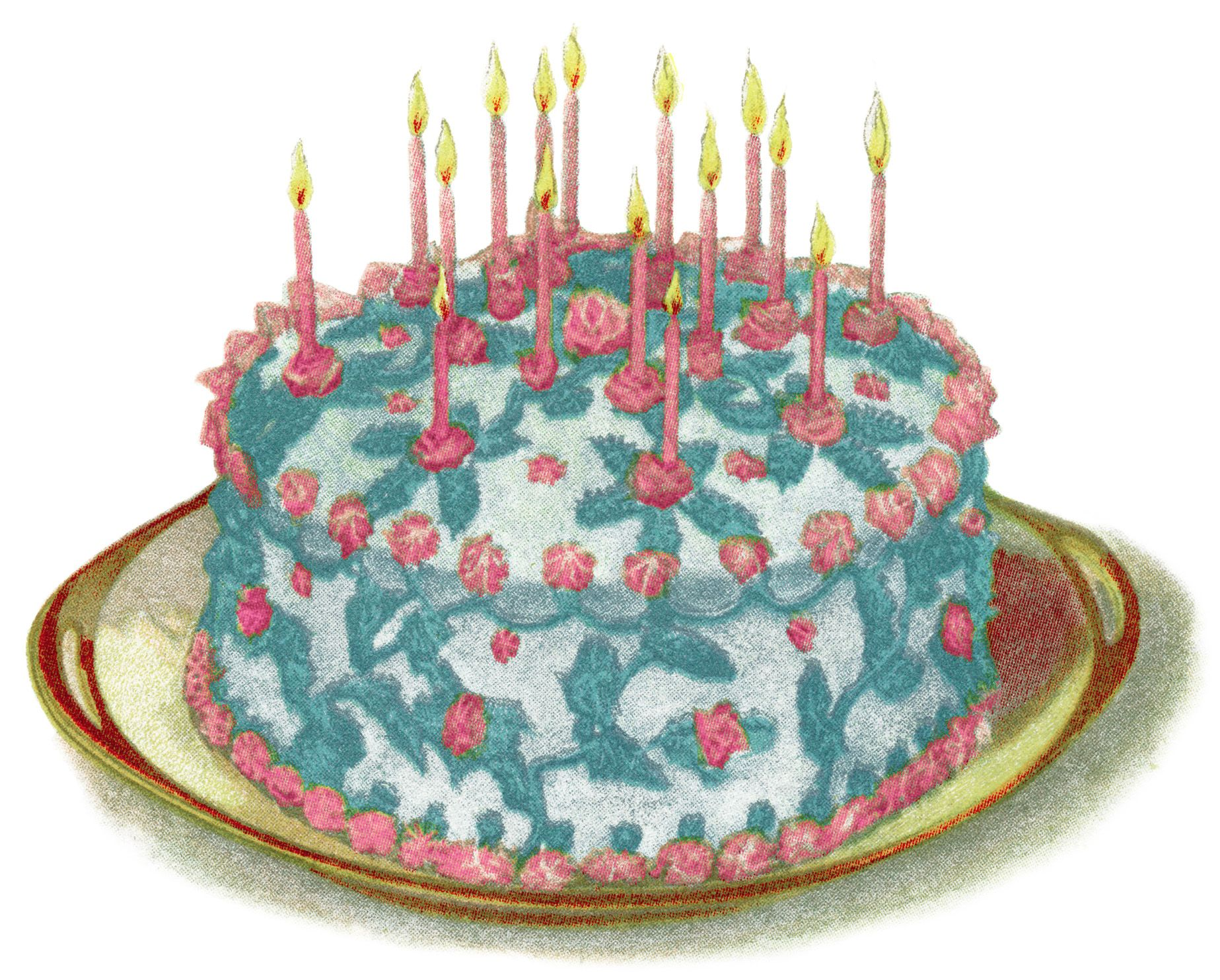 vintage cake clip art birthday cake illustration vintage baking