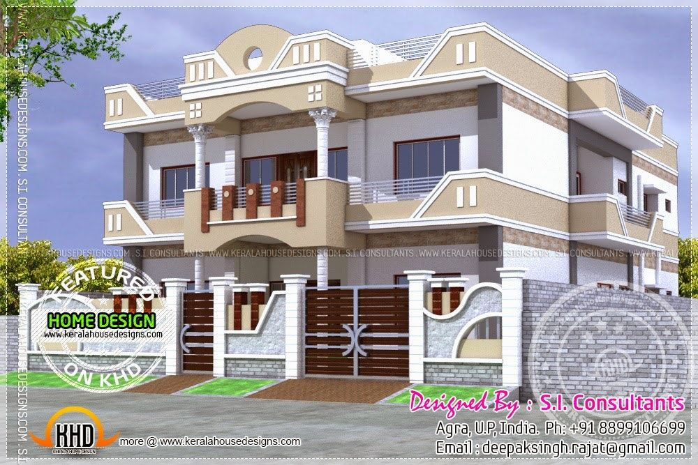 Parapet Wall Designs Google Search Free House Design Indian House Exterior Design Kerala House Design