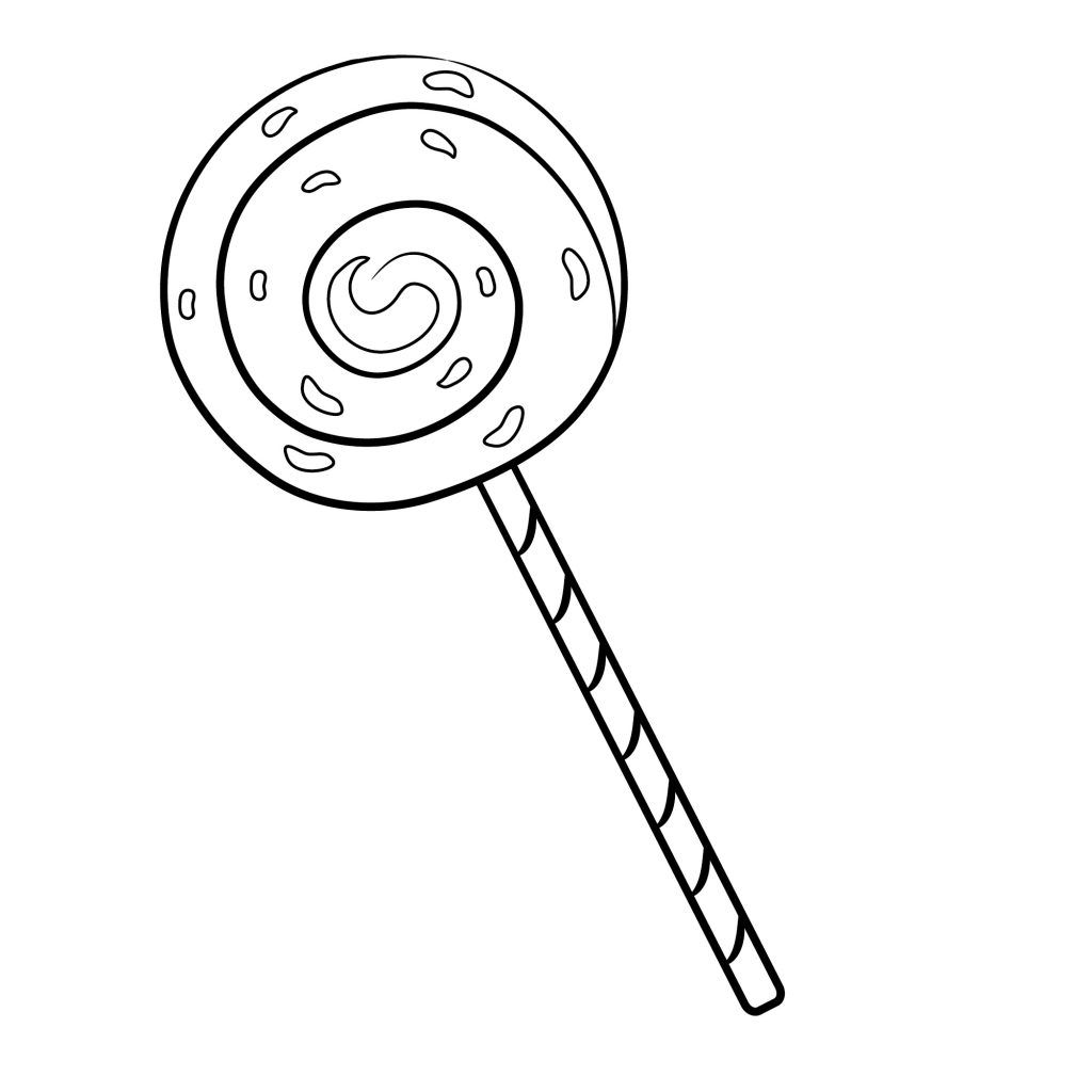Lollipop Coloring Pages Candy Coloring Pages Coloring Pages For Kids Apple Coloring Pages