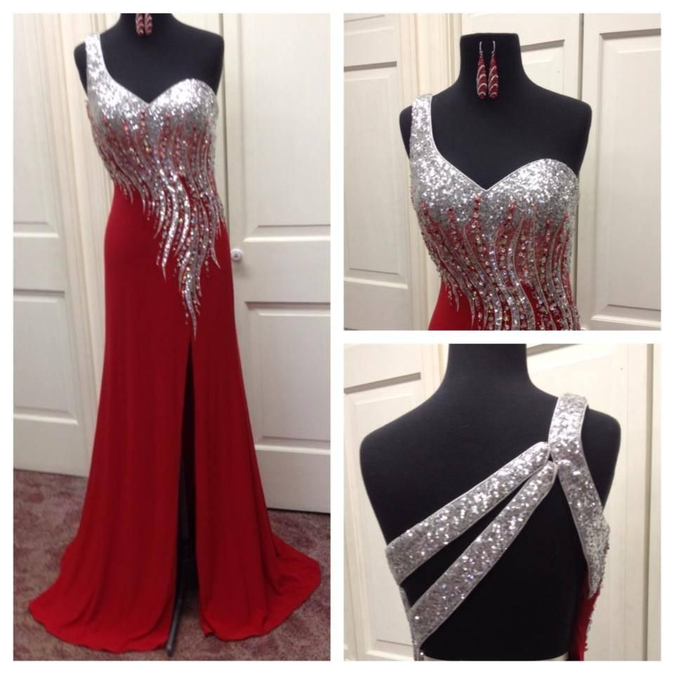 Lilac Prom Dresses 2015 One Shoulder Prom Dresses Real Pictures Vestidos De Fiesta Sequin Crystals Red Chiffon Column Prom Gowns With Backless And Split Side White Formal Dress From Nicedressonline, $178.02  Dhgate.Com