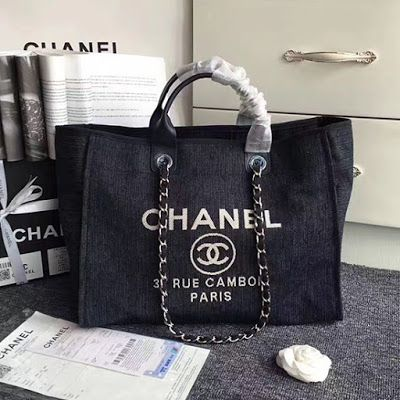 fedf6ece3ce8 Chanel Canvas Large Deauville Shopping Bag A68046 | Chanel Bags and ...