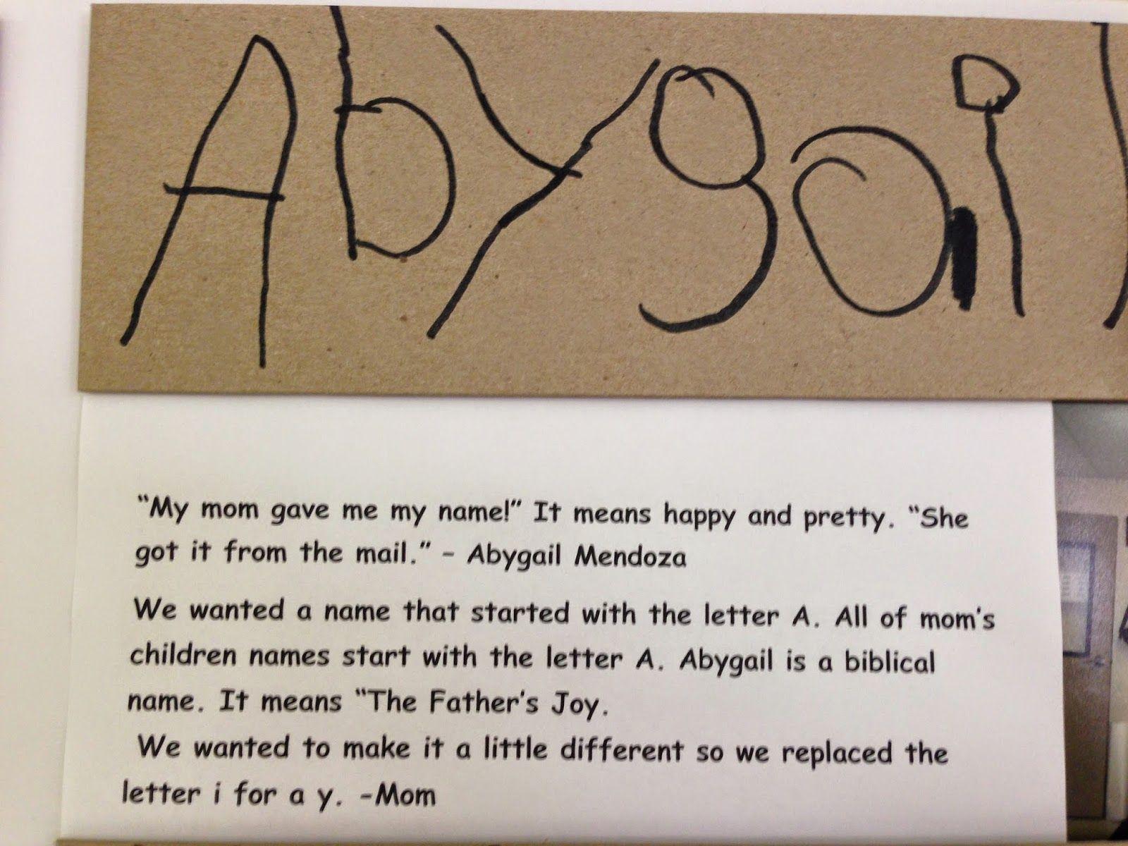 A Child's Name as a Bridge to Language and Self-Esteem