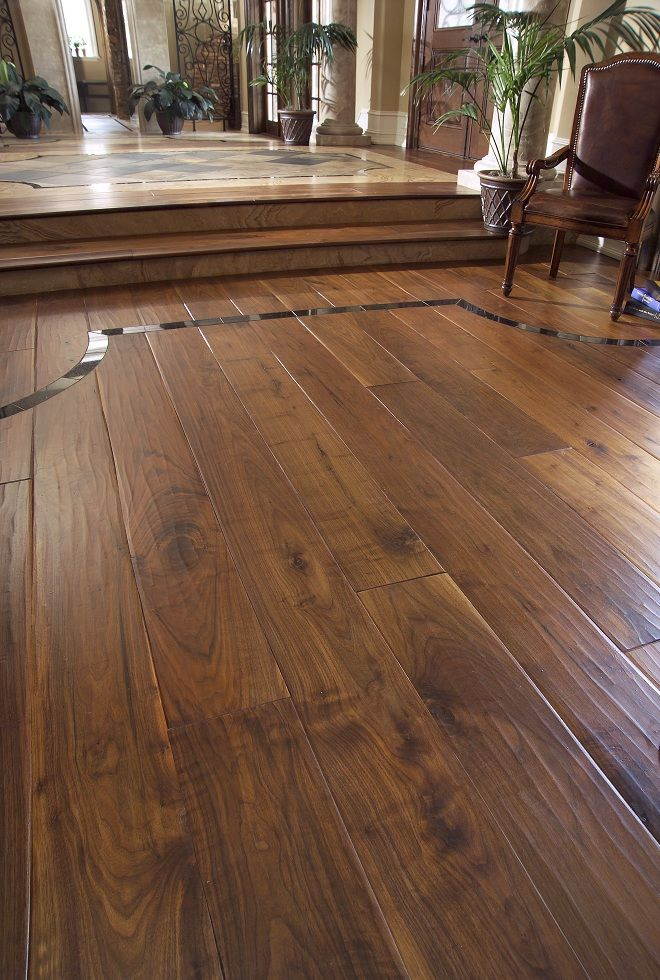 foot worn wide plank walnut wood flooring....mmmmm. - Foot Worn Wide Plank Walnut Wood Flooring....mmmmm....love