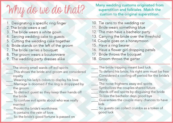 instant download bridal shower game why do we do that match the customs customization not included on etsy 1000