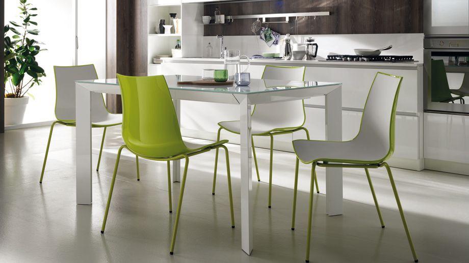 3d colour Tavolo e sedie, Tavolo da pranzo moderno, Tavolo