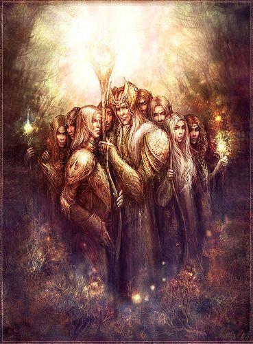 Elf Tribe Fantasy Illustration Tolkien Artwork Tolkien Art