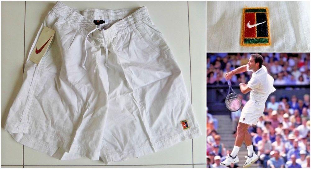 Vtg 90s Nike Supreme Court Tennis Shorts Sampras Wimbledon Agassi Federer Og Ds Nike Shorts Vintage Sportswear Tennis Clothes Tennis Shorts