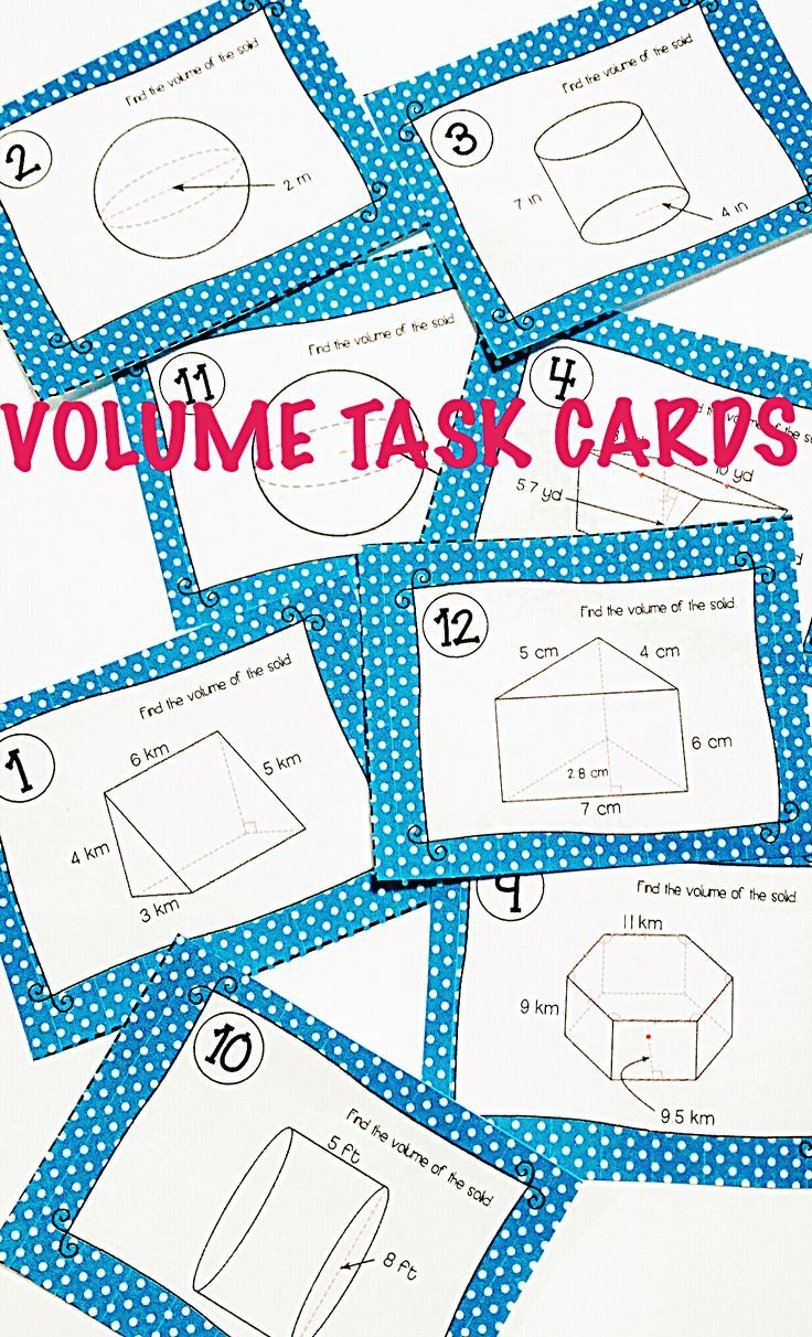 Volume Task Cards | Maths, Maths resources and Activities