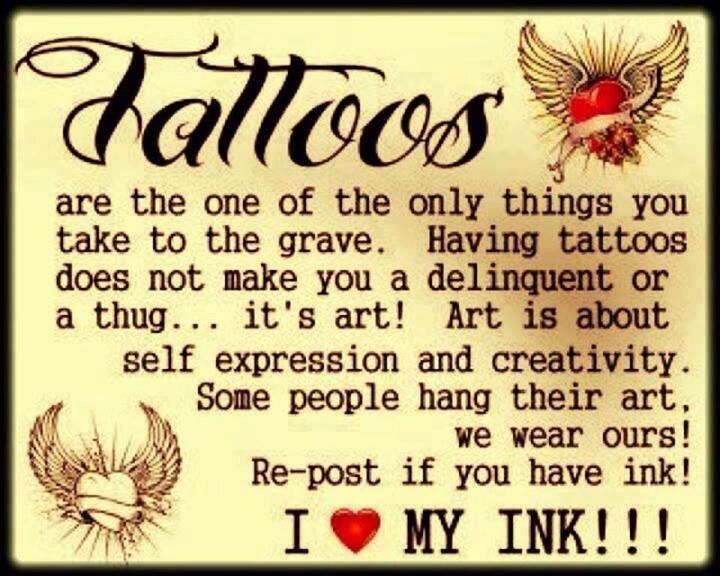 So true!! Tattoo should have meanings to whomever is wearing it