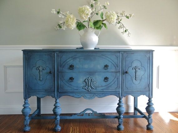 Vintage Hand Painted Cottage Chic Shabby Romantic Vintage