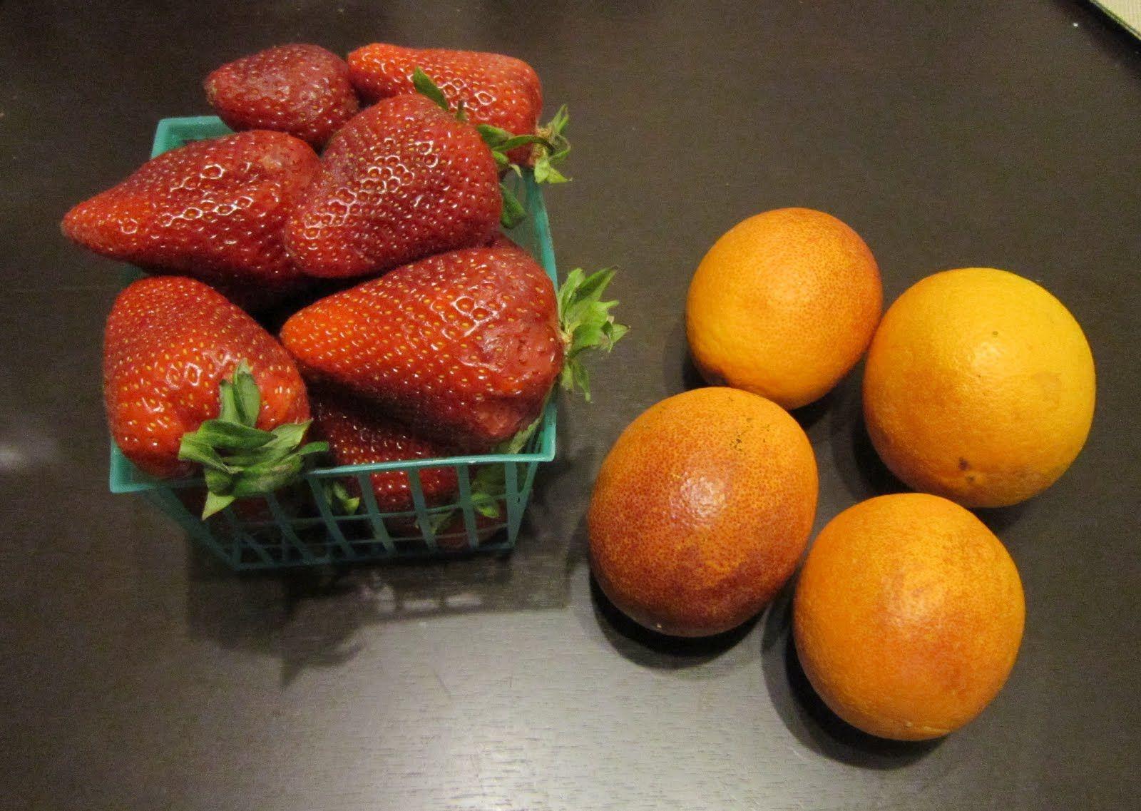 strawberry with orange