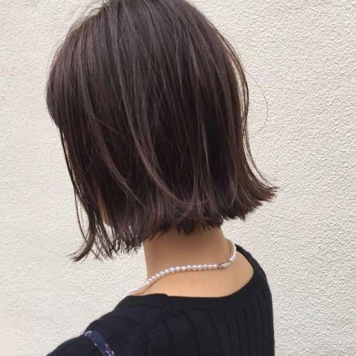 ショートヘアスタイル Noe Salon 無造作 外国人風 外ハネ アッシュ 透明感 ロブ ボブ 切りっぱなしボブ ヘアケア ボブ 髪 色