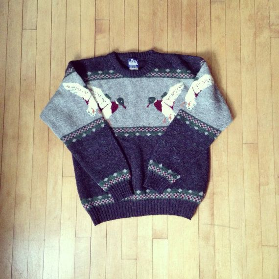 Vintage 1970's Men's Woolrich DUCK Sweater by ResaleReligion, $50.00