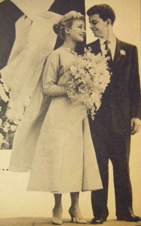 Russ Tamblyn and Venetia Stevenson on their wedding day