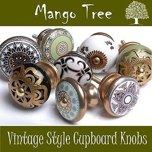 BRASS FINISH DOOR KNOBS VINTAGE STYLE