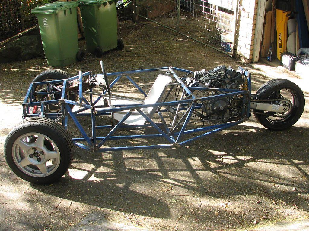 Three Wheeler Frame : Reverse trike frame design seat now added in high tech