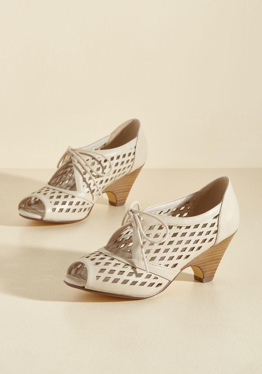 Perf Your While Peep Toe Heel In Ivory Heels Peep Toe Shoes Peep Toe Heels
